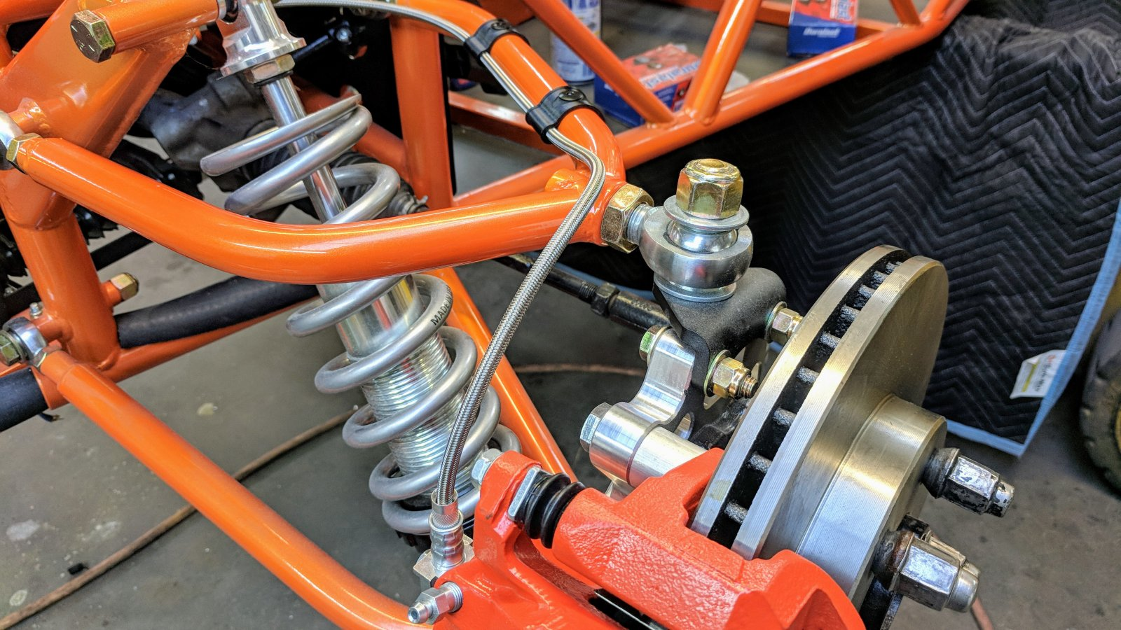 Announcement - Front brake hose machining and routing | DF