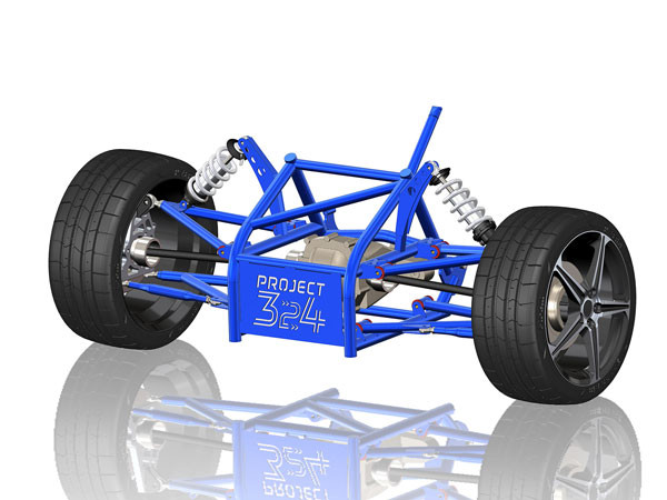 The Project 324 kit was developed using Solidworks.
