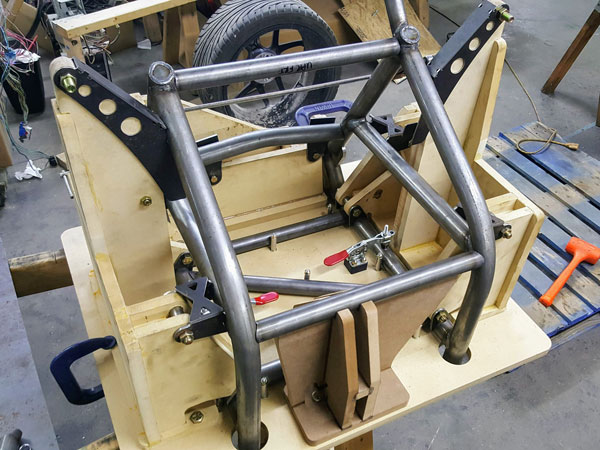 The Project 324 prototype frame was rapidly developed using CNC machined MDF tooling.