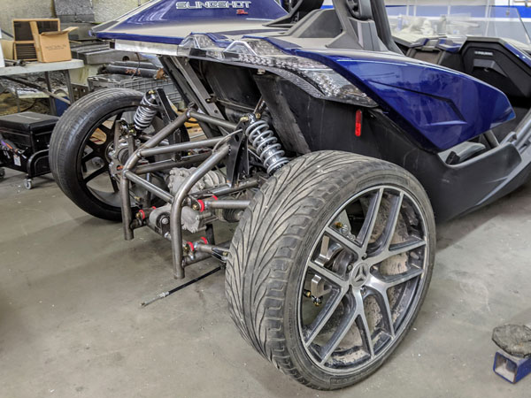 The Project 324 prototype kit was developed with a 2018 Slingshot SL.